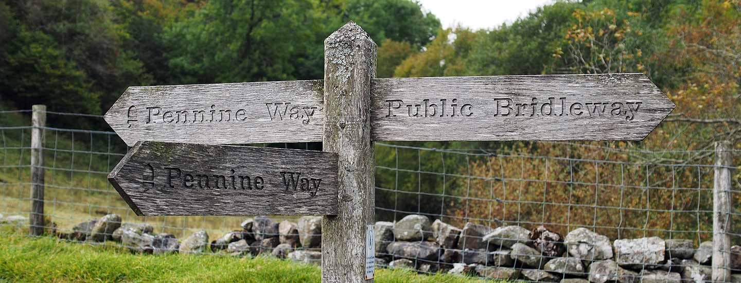 Photo: Fingerposts on the Pennine Way near Keld, where it's crossing the Coast to Coast Walk (bridleway to the right, unmarked).