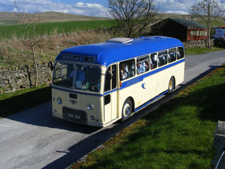 Photo: classic coach taking part in the Kirkby Stephen Commercial Vehicle Rally